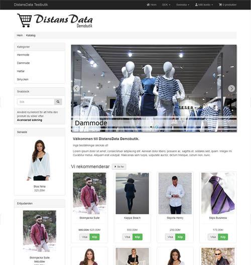 demo webshop